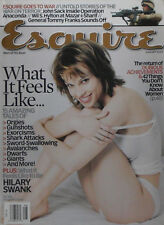 HILARY SWANK August 2002 ESQUIRE Magazine GENERAL TOMMY FRANKS