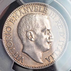 1919, Italian Somaliland, Victor Emmanuel III. Silver 1 Rupia Coin. PCGS MS-62!
