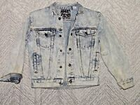 Vintage Tomorrows Generation Child's Jean Jacket Size Small Acid Wash 8/10 Denim