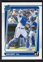 2021 Donruss Baseball Rated Rookie Card RC #44 Sam Huff Texas Rangers