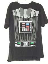 Men's SZ L Disney Star Wars Darth Vader Black Graphic Detachable Cape T-shirt