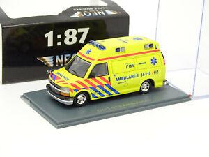 Neo 1/87 HO - Chevrolet GMT 600 Ambulance Ussel
