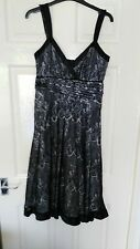 BNWT Womens Next Black and White Mesh Covered Dress. Size 10.