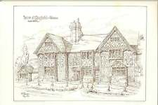 1884 Mayfield Sussex Timber House Wj Lander Architectural Artwork