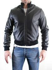 Giacca Giubbotto in di Pelle Uomo Men Leather Jacket Lederjacke der Männer E8