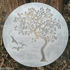 "Tree of life mold concrete plaster casting abs plastic plaque mould 10"" x 3/4"""