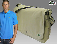 LACOSTE  MESSENGER Unisex Shoulder Bags New City Casual 7 Sand AUTHENTIC