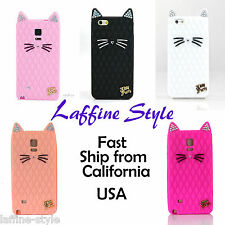 Super Cute 3D Crystal Bling Bling Cat Purry Kitty Perry Katy Silicone Cover Case