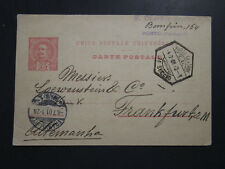 Portugal 1901 Postcard to Germany / Creased LL Corner - Z3960