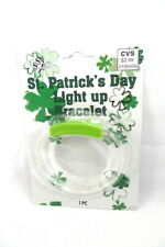 Women Girls St. Patrick's Day Green LIGHT UP BRACELET New