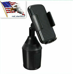 USA 360°Adjustable Universal Car Mount Cup Holder Stand Cradle For Phone Accesso