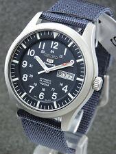 Seiko SNZG11K1 Automatik Military style blue dial  (unworn)