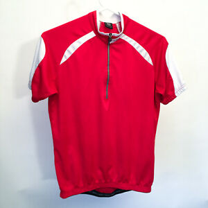 Sportful Womens Cycling JerseyRed/White Short Sleeve Bike Top Size Large L