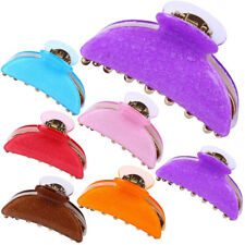 Bright Acrylic Bathing Anti-Slip Hairpins Large Hair Claw Clips Clamp uk