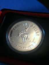 1975 CANADA SILVER DOLLAR .500 PURE SILVER UNCIRCULATED ORIGINAL PACKING