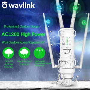 300-1200Mbps Outdoor Wireless Repeater WiFi Range Extender 2.4/5G High Gain AP