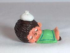Monchhichi PVC Mini Figure - SLEEPING SICK - Vintage Monchichi Sekiguchi