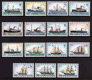 Falkland Islands 1978 Mail Ships without Imprint Date SG 331A/345A MNH