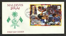 SOCCER WORLD CUP 1994 MALDIVES (BLOCK) FDC, VERY FINE