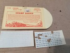 """Champ HO Chelsea Alphabet and Numberical Set Silver 1/16"""" #L-145"""