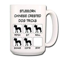 Chinese Crested Stubborn Tricks Extra Large 15oz Coffee Mug