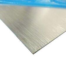 "Brushed, Anodized Aluminum Sheet, Thickness: 0.025"" x 12"" x 12"""