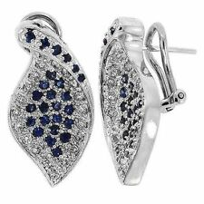 Vintage Diamond & Sapphire Earrings 14K Gold