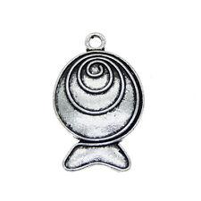 15 pcs Lot Vintage Silver Metal Skateboard Shaped Jewelry Pendant Charm 21x7mm