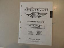 Johnson 25  30 PS Außenborder Modelljahr 2000 parts catalog Teile Katalog
