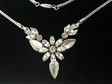 Vintage Krementz rhinestone wedding necklace;1950