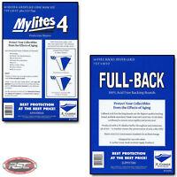 50 - E. GERBER FULL-BACK & MYLITES 4 SILVER & GOLDEN AGE Mylar - 750FB/775M4