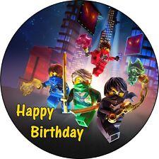 Ninjago Deco Gateau Disque Azyme Comestible Happy Birthday Anniversaire 20cm