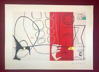 Le Corbusier - Cortège ,litografia 1970, 29,5X40 cm - 375 es. - Mourlot