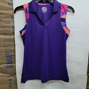 Slazenger Golf Tank Top Shirt Purple Sleeveless Women's Size XS Vneck