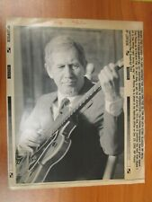 Vtg Wire AP Press Photo Country Gentleman, Mr Guitar, Chet Atkins, Yakety Sax #6