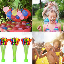 3 Bunches 111pcs Magic Already Tied Water Balloons Bombs Kids Garden Party Toy