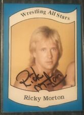 Wrestling All Stars-Excellent To Mint Ricky Morton Rookie Card&Cup Autographed!