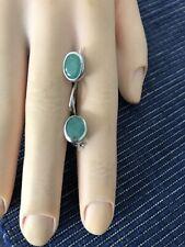 Hübsche Ohrringe 925 Silber Mit Smaragd