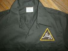 BLATZ BEER WORK SHIRT Triangle Logo Patch Uniform Driver Delivery Guy vtg MED
