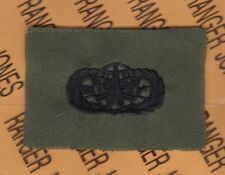 US Army Space Operations Qualification OD Green & Black cloth badge patch