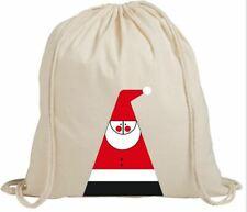 Christmas Santa Claus Abstract Gift Eco-Friendly Drawstring Rucksack Bag