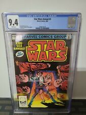 CGC 9.4 STAR WARS ANNUAL 2 MARVEL 1982 WHITE PAGES