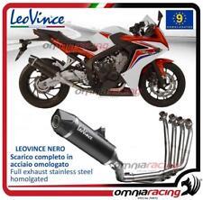 Leovince LV One Nero full exhaust system for Honda CB650F / CBR650F 2014>2016