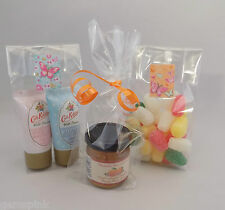 """100 x Clear Cellophane Gift, Party, Display Bags with gusset 2.75"""" x 1.25"""" x 7"""""""