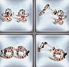 Markenlose Modeschmuck-Ohrschmuck mit Kristall und Butterfly-Verschluss für Damen