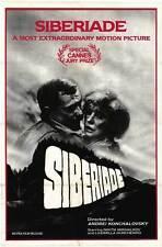 SIBERIADE Movie POSTER 27x40 Vladimir Samoilov Vitaly Solomin Nikita Mikhalkov