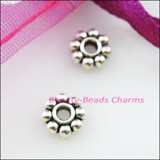 100 New Charms Tiny Daisy Spacer Beads 4mm Tibetan Silver Tone