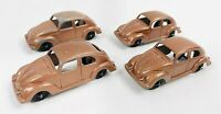 "Vintage Tootsie Toy Volkswagen VW BEETLE BUG Diecast Toy Car 3""  (Lot Of 4)"