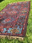 Large, brilliantly colored handmade soumak rug from Dagestan in the Caucasus
