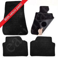 BMW 3 Series E90/E91 2005–2013 Tailored Carpet Car Mats Black 4pcs Velcro Tabs